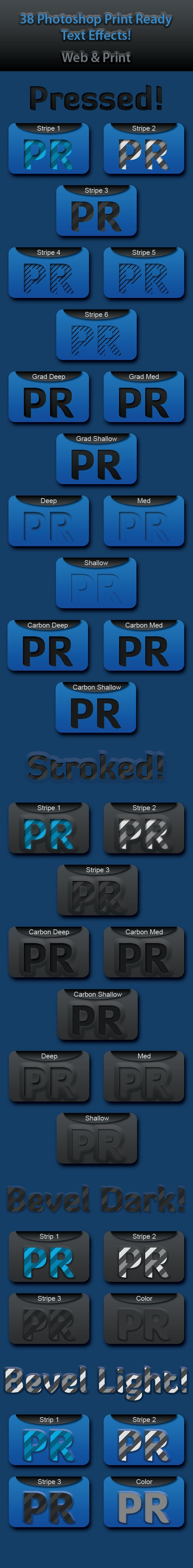 38 Print Ready Text Styles! (Print & Web) - Text Effects Styles