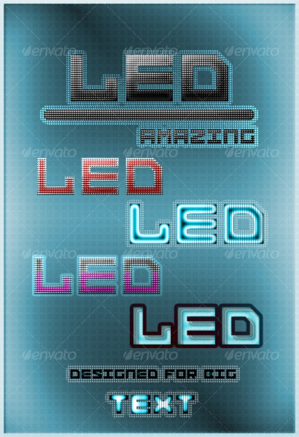 5 LED Styles - Text Effects Styles