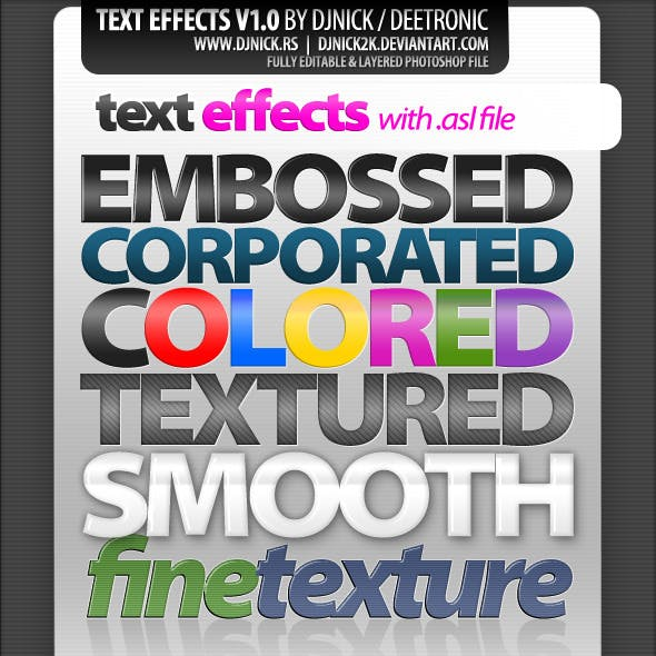 photoshop text effects and styles