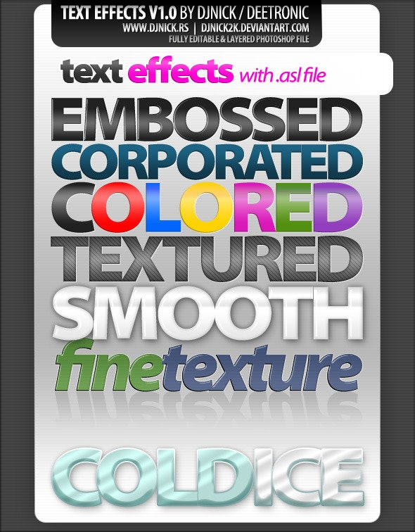 photoshop text effects and styles - Text Effects Styles