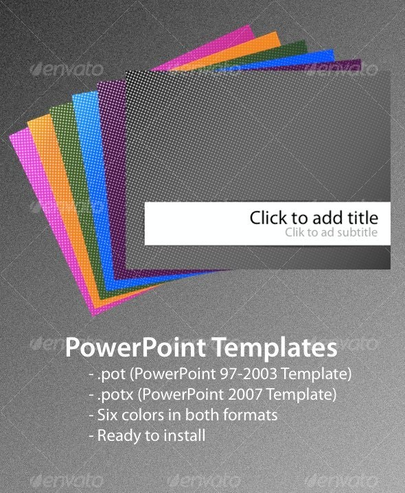Dots PowerPoint Templates - Abstract PowerPoint Templates