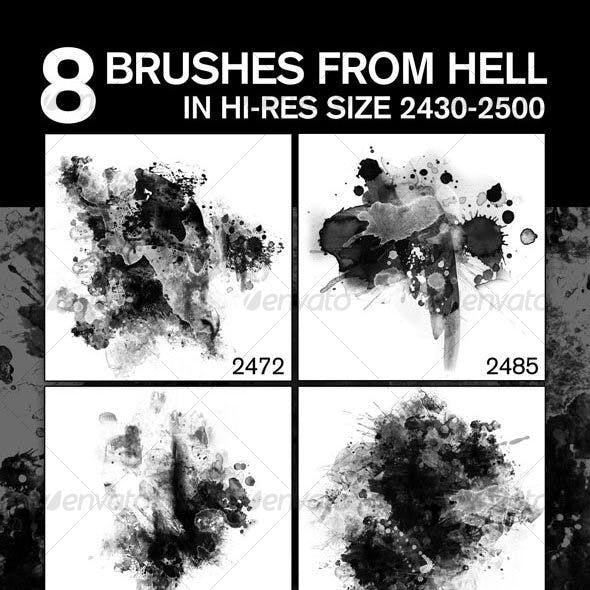 8 Fabulous Hi-Res Brushes (.ABR) from Hell!