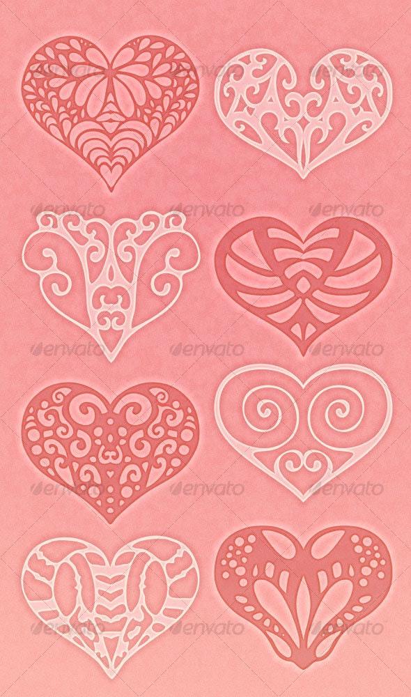 Heart Brushes 2 - Brushes Photoshop