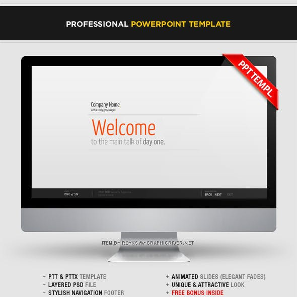 Professional Template With Footer