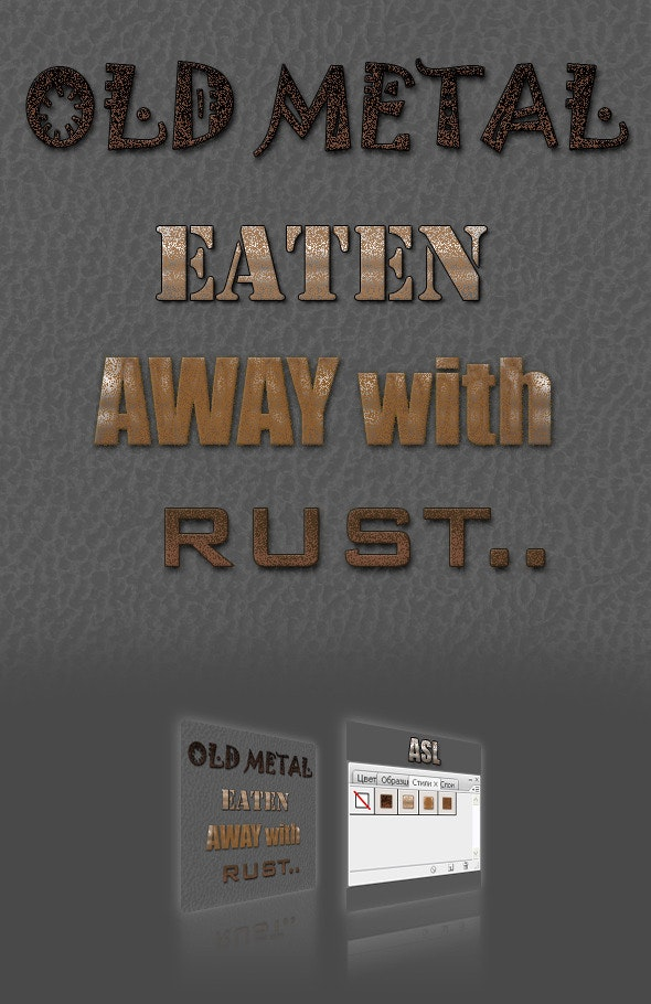 Rust styles - Photoshop Add-ons