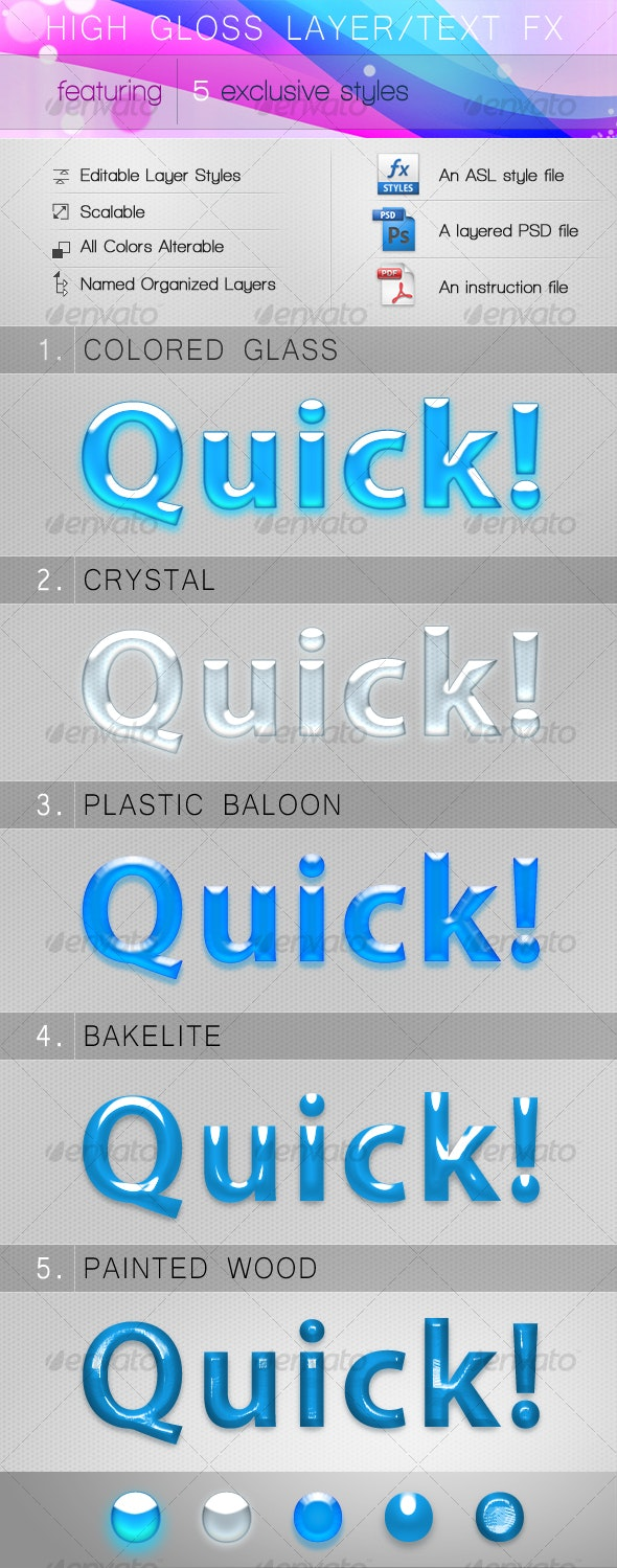High Gloss Layer/Text FX - Text Effects Styles