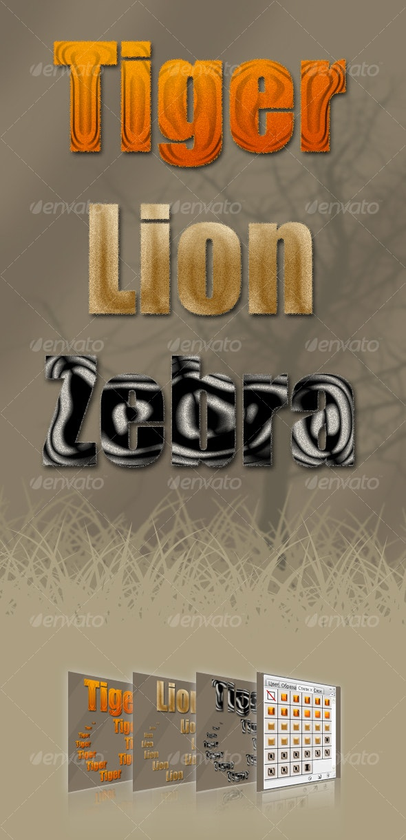 African styles - Text Effects Styles