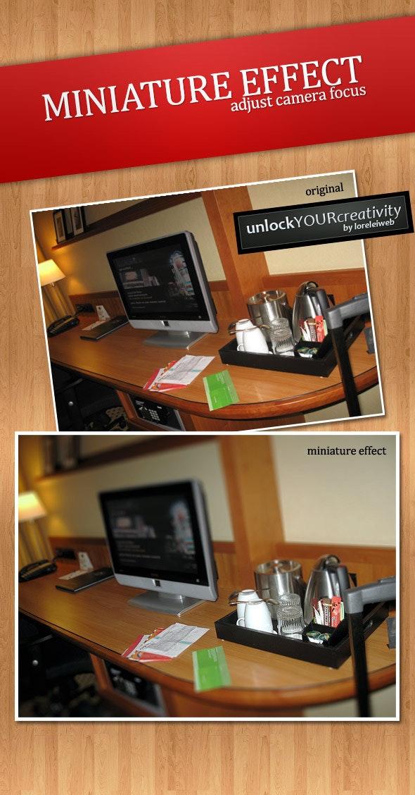 Tilt-Shift Miniature Effect - Adjust Camera Focus - Photo Effects Actions