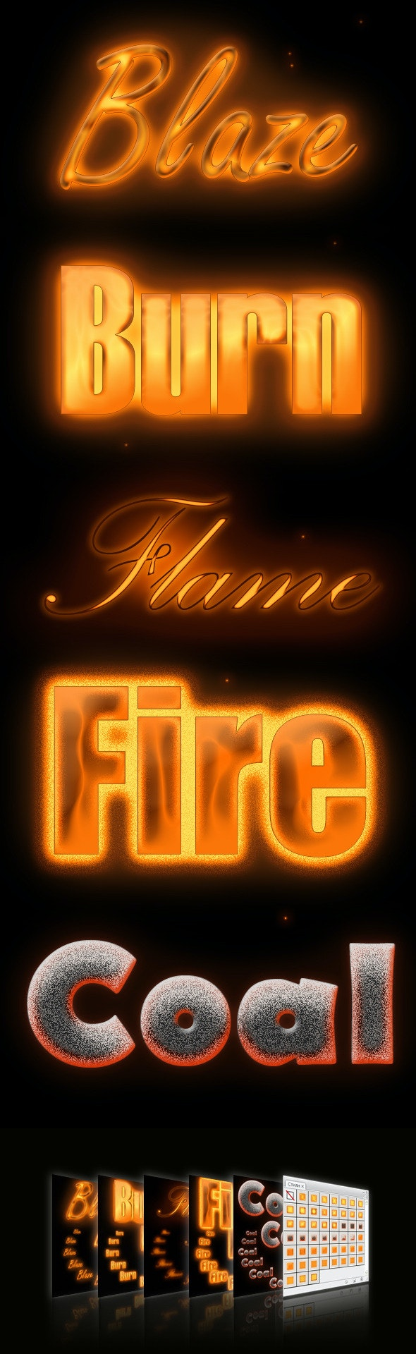 Flame styles - Text Effects Styles