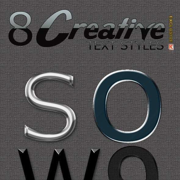 Creative text effects & styles