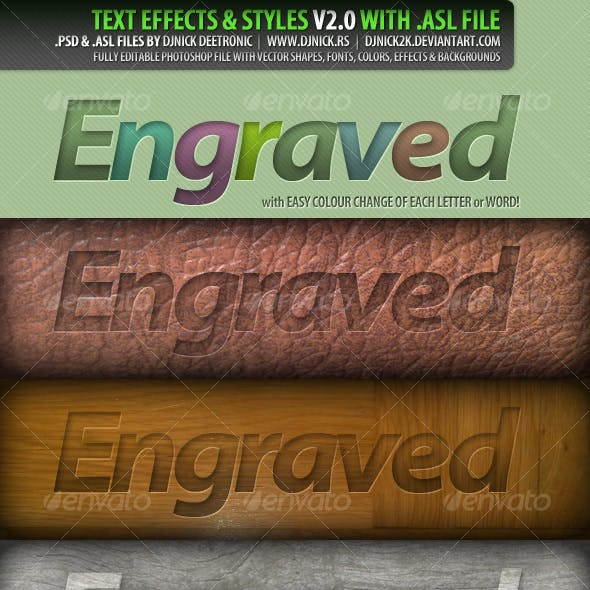 PSD Text Effects and Styles 2 by djnick deetronic