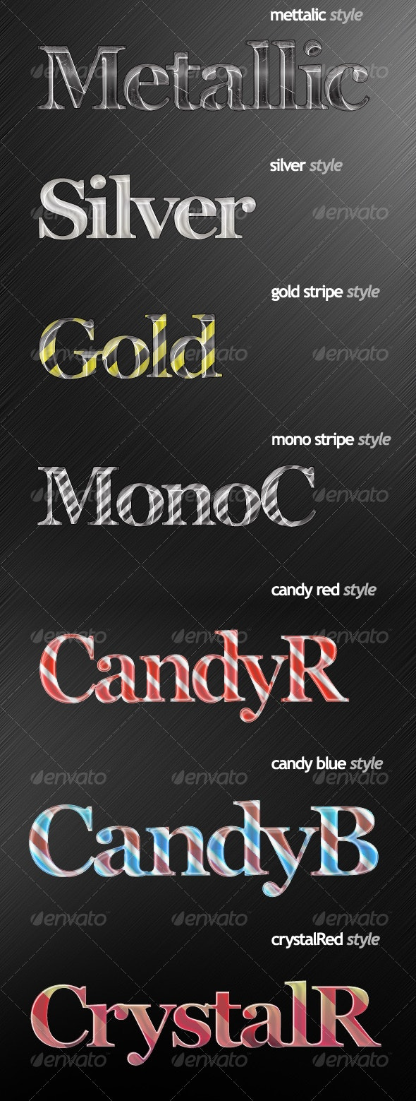 7 Wonderful Text Styles - Text Effects Styles