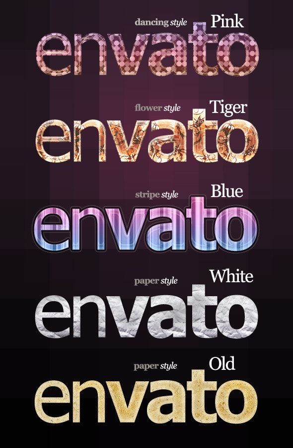 5 Special Text & Effects styles - Text Effects Styles
