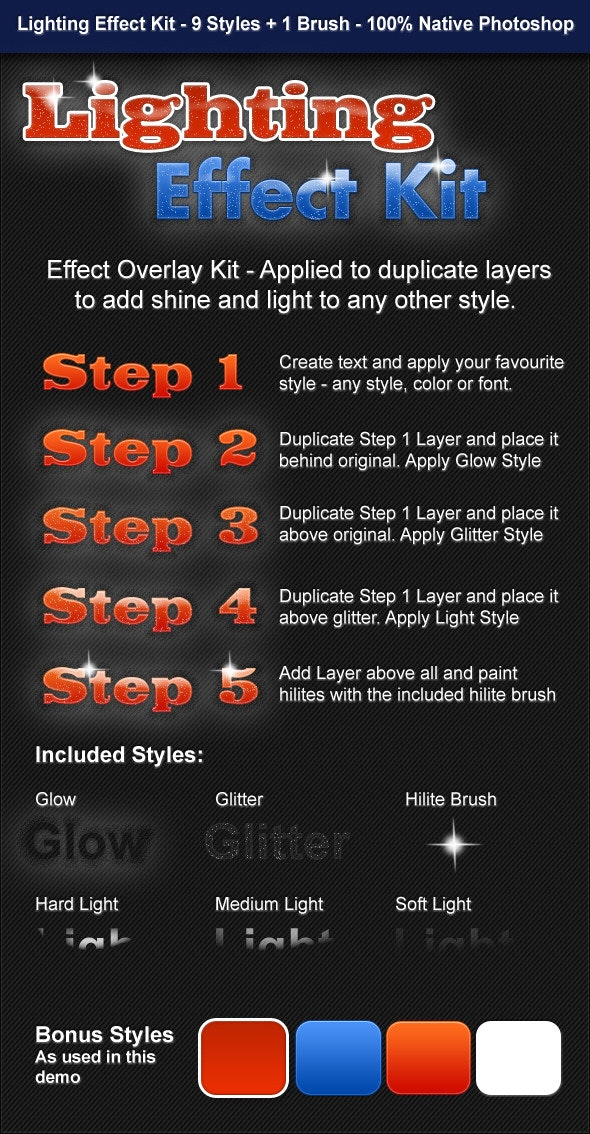 Lighting Effect Kit - Text Effects Styles