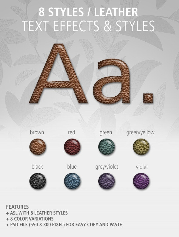 8 Text Effects and Styles: Leather - Text Effects Styles