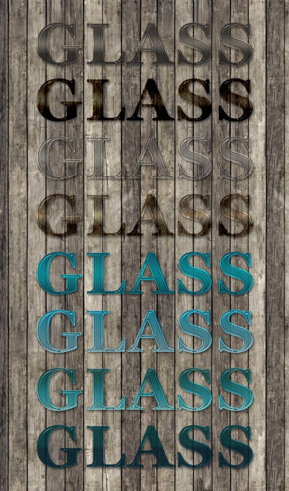 8 Professional Glass Text Styles - Text Effects Styles