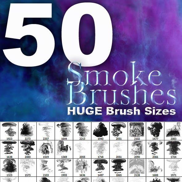 50 High Res Smoke Brushes