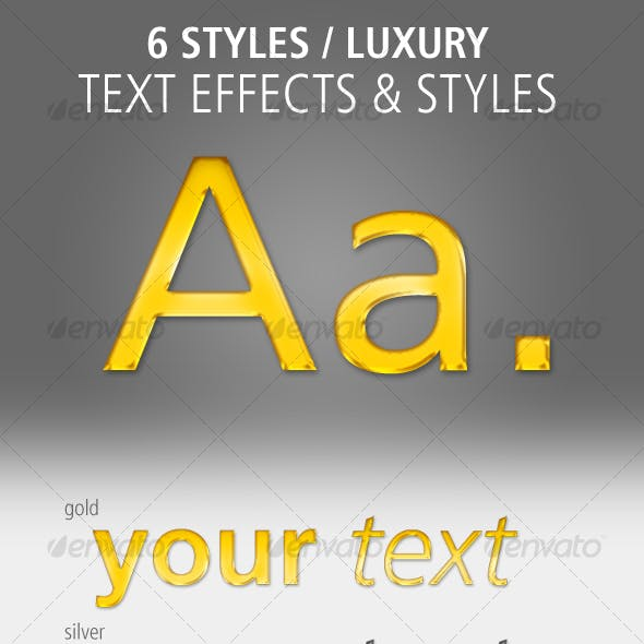6 Text Effects and Styles: Luxury