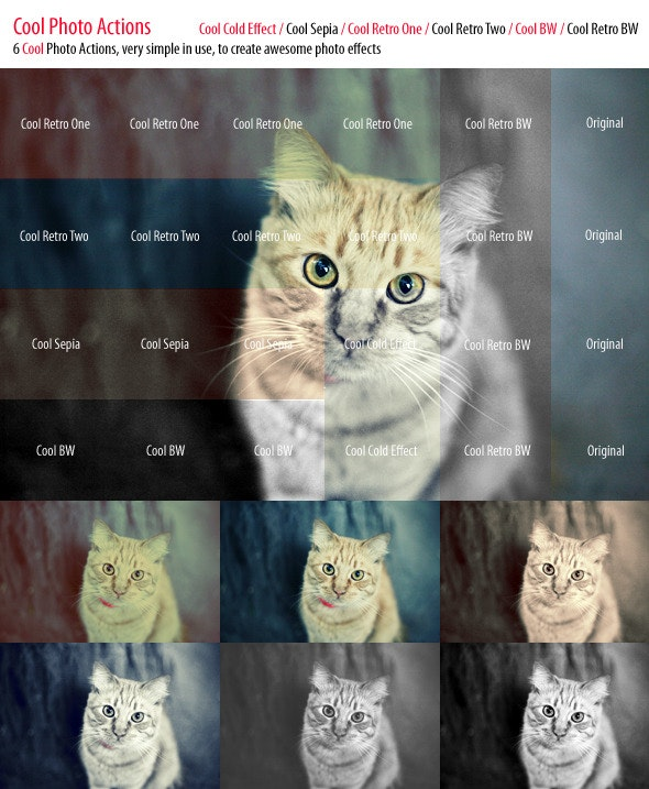 Cool Photo Actions Set - Photo Effects Actions