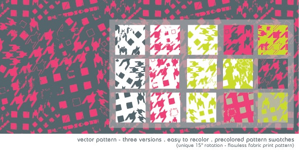 Repeating Illustrator Hound Sooth Pattern - Textures / Fills / Patterns Illustrator