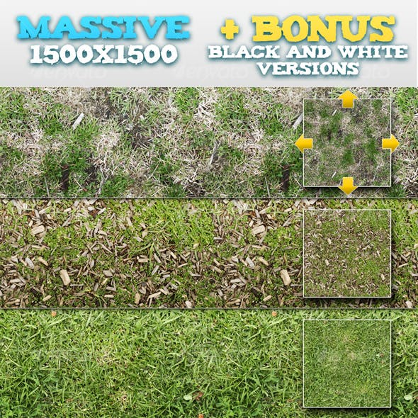 10 Tileable Grass Patterns + BONUSES
