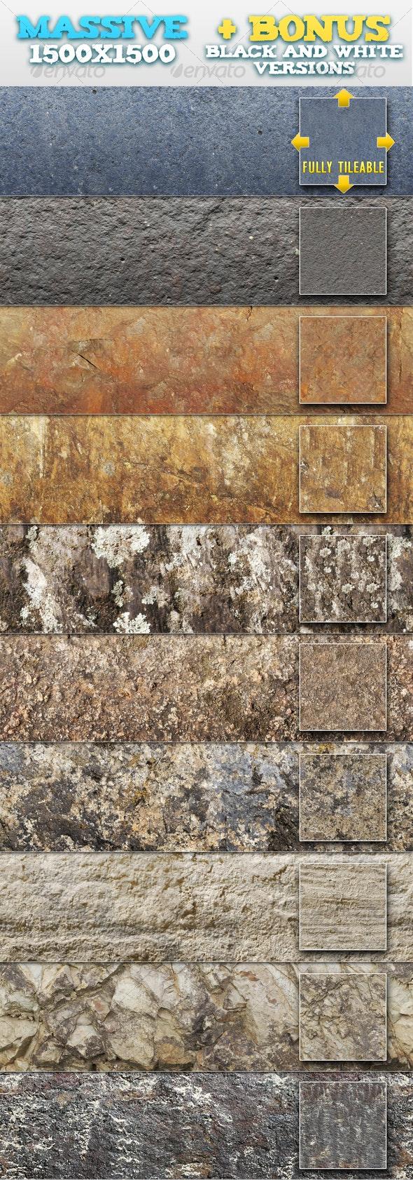 10 Natural Rock / Stone Patterns + BONUSES - Textures / Fills / Patterns Photoshop