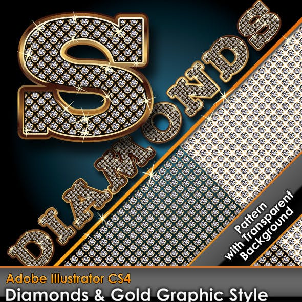 Diamonds & Gold Graphic Style Plus Diamond Pattern