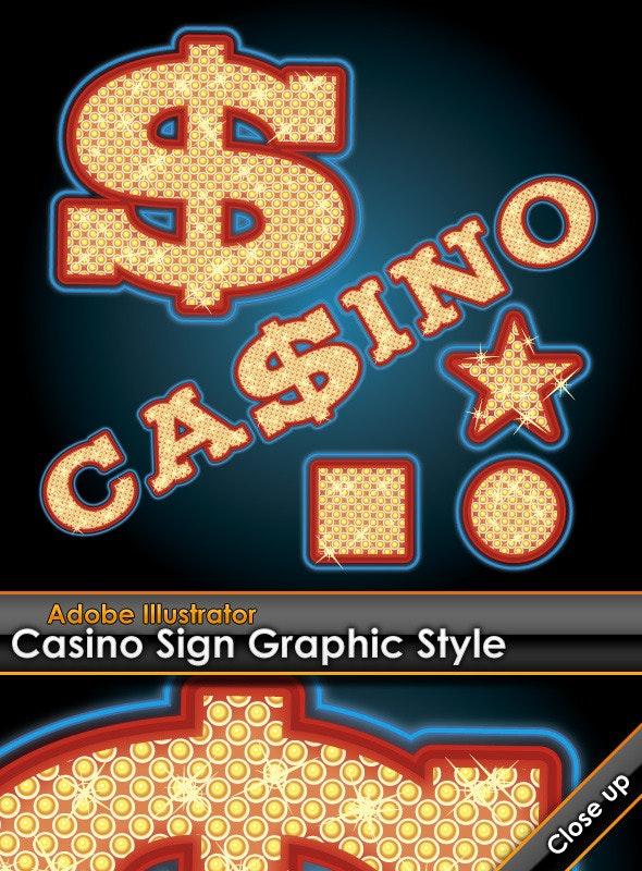 Casino Sign Illustrator Graphic Style - Styles Illustrator