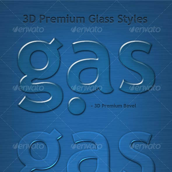3D Premium Glass Text Effects & Styles