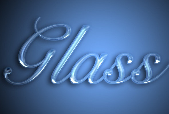 Glass text effect - Photoshop Add-ons