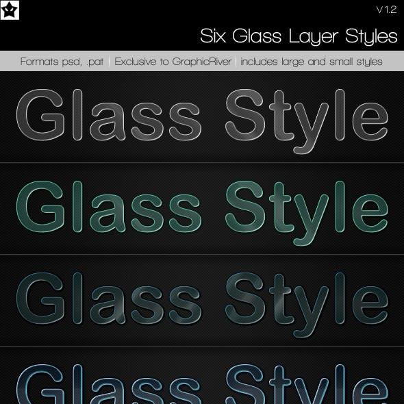6 Glass Layer Styles + Bonus Styles