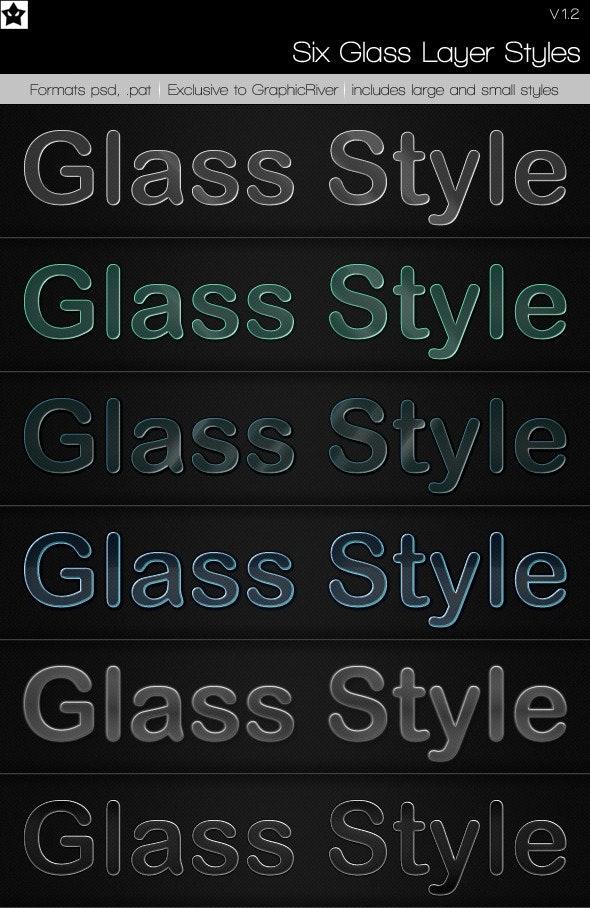 6 Glass Layer Styles + Bonus Styles - Text Effects Styles