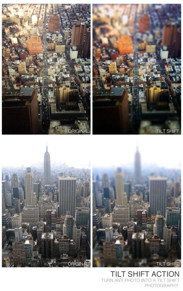 Tilt Shift Action - Photoshop Add-ons