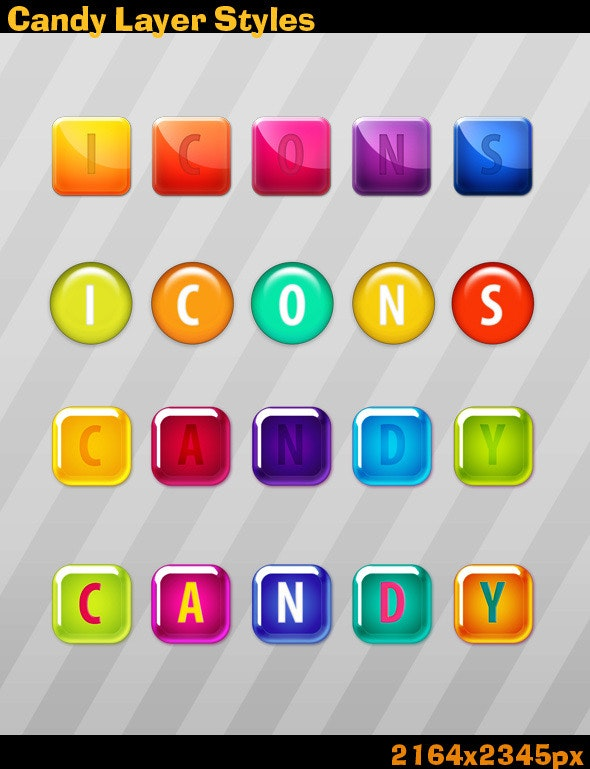 Candy Layer Styles - Text Effects Styles