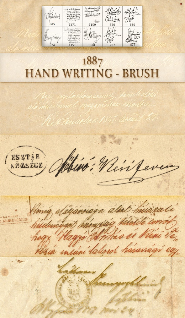 old hand writing - brush - Miscellaneous Brushes
