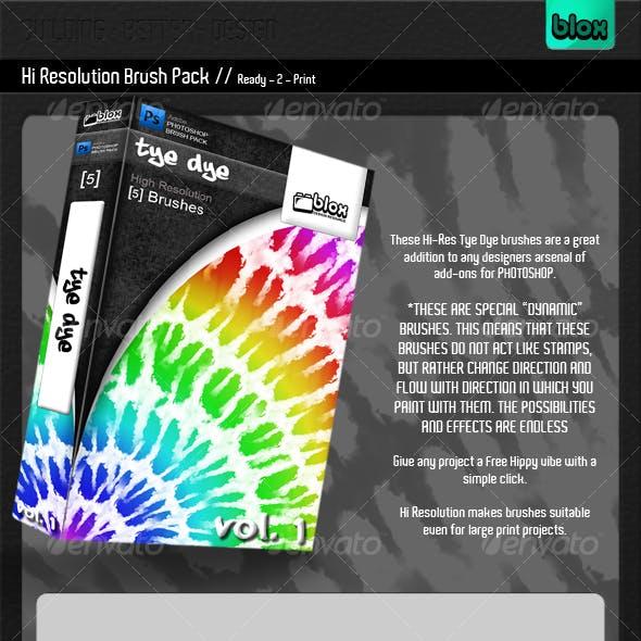 Tye Dye Brush Pack