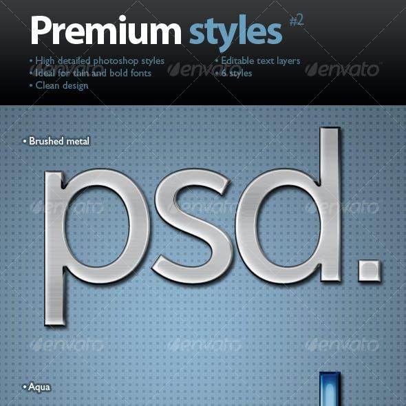 Premium text styles #2