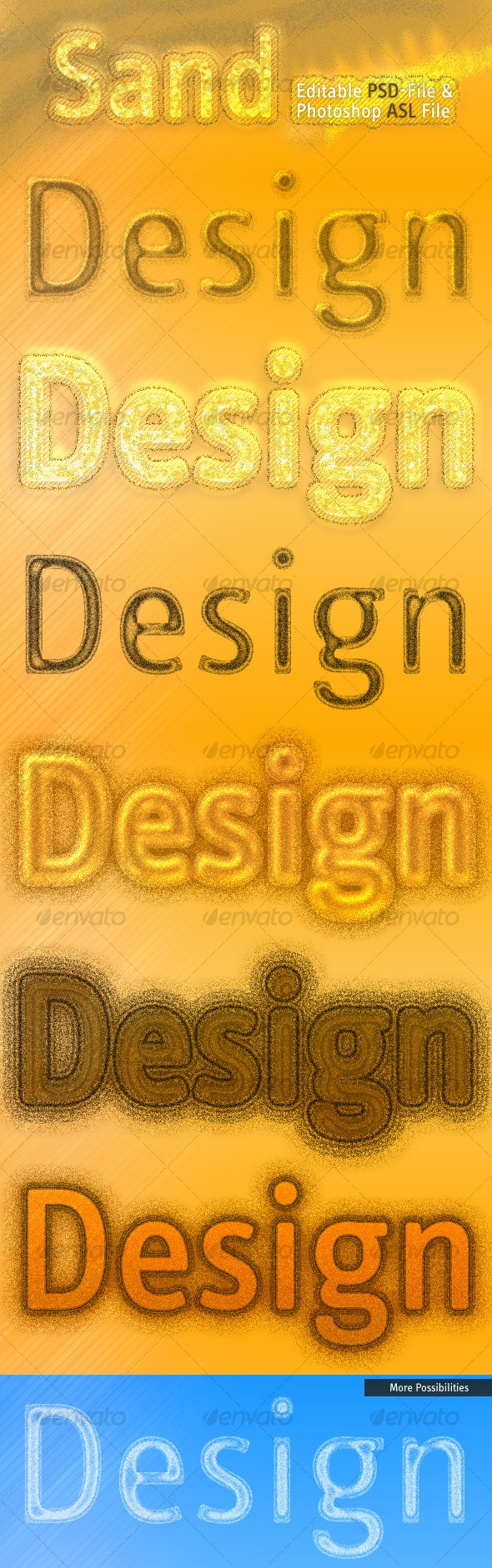 Incredible Sand Effects - Text Effects Styles