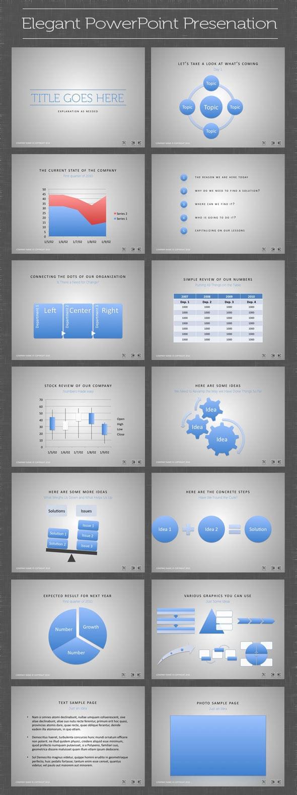Elegant PowerPoint Presentation - PowerPoint Templates Presentation Templates