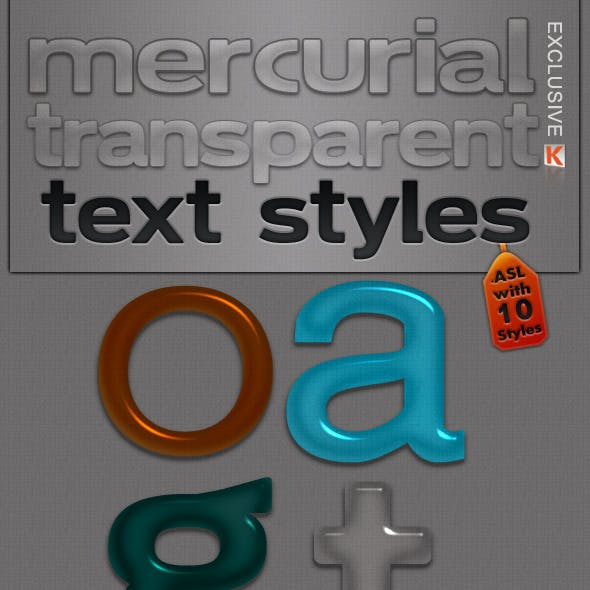 Mercurial Transparent Text Styles