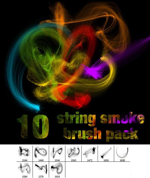 String Smoke Brush Pack  - Brushes Photoshop