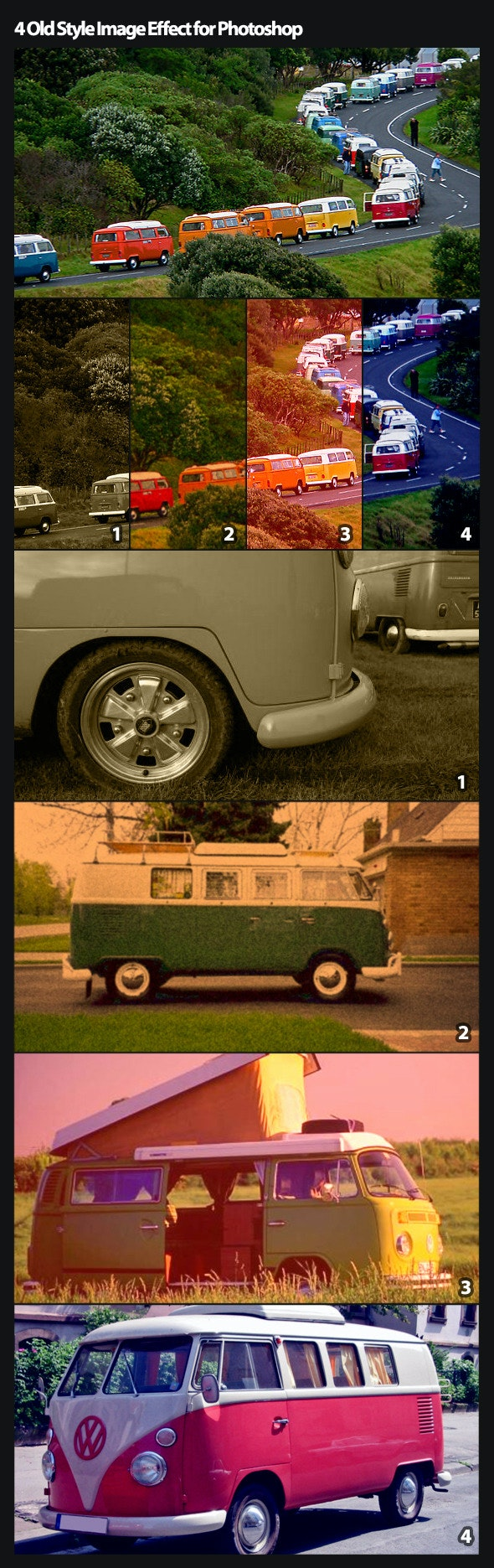 4 Old Style Photo Effect Action - Photo Effects Actions