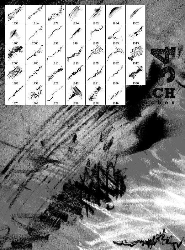 Hachure brushes - Brushes Photoshop