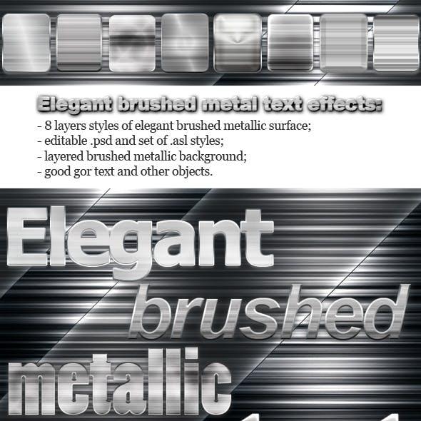 Elegant Brushed Metal Text Effects