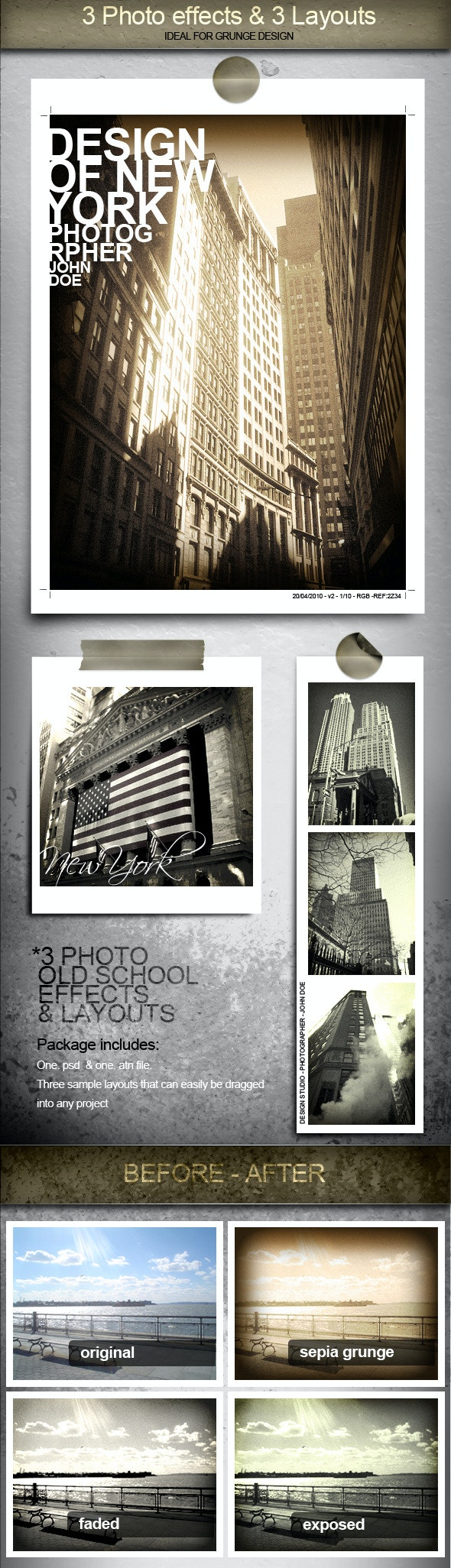 3 Cool Photo Effects and Layouts - Photoshop Add-ons