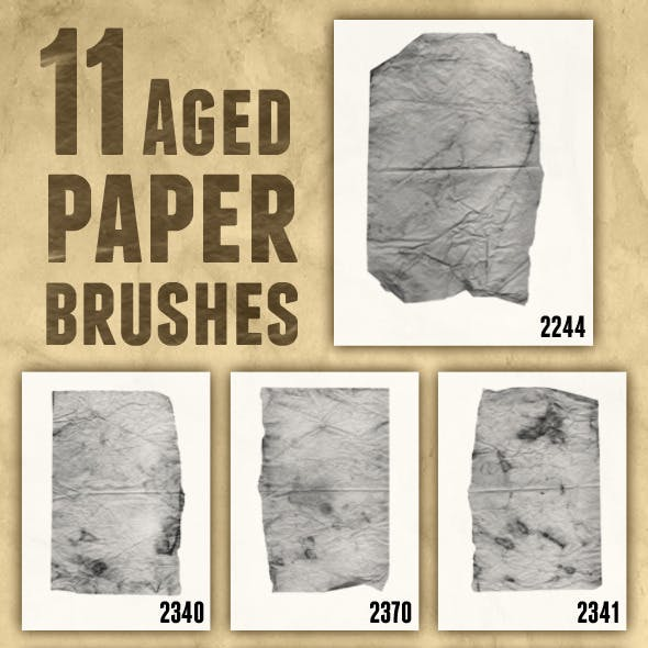 11 Aged Paper Brushes