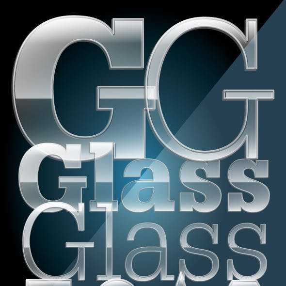 Glossy Glass Illustrator Graphic Style