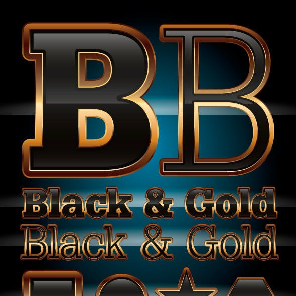 Black & Gold Illustrator Graphic Style