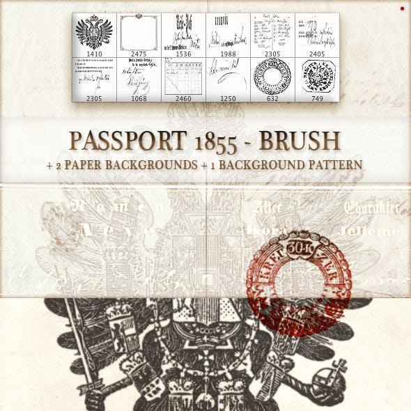 passport 1855 - brush