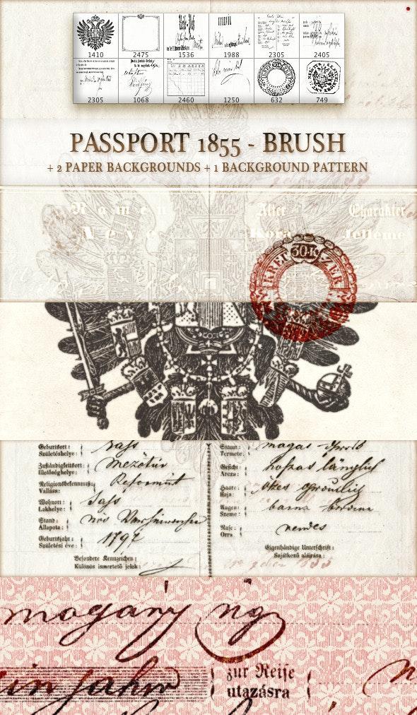 passport 1855 - brush - Miscellaneous Brushes
